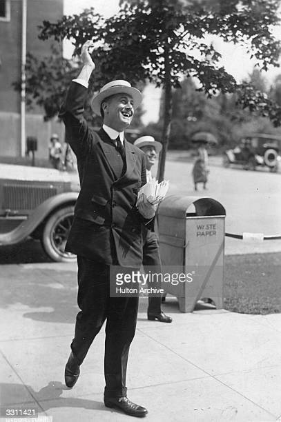 Franklin D Roosevelt on the campaign trail