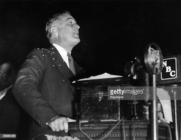 Franklin Delano Roosevelt the Democratic politician and 32nd President of the United States of America