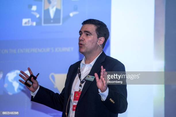 Franklin Luzes Jr chief operating officer of Microsoft Participacoes Ltd speaks during the Global Agribusiness Forum in Sao Paulo Brazil on Wednesday...