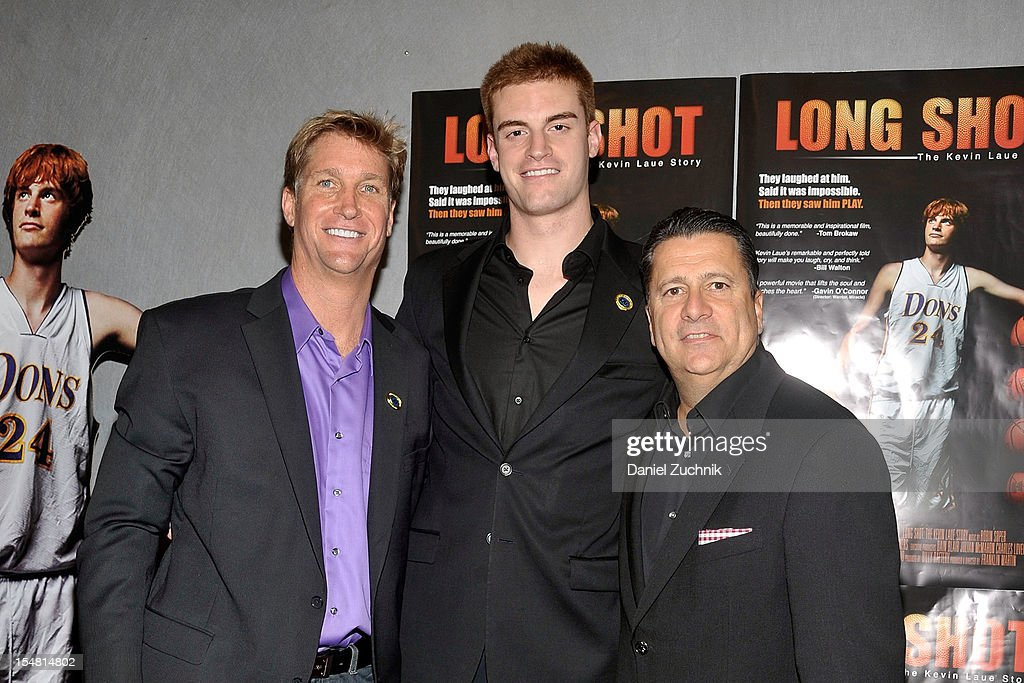 Franklin Martin, Kevin Laue and Tom Pecuora attend the 'Long Shot: The Kevin Laue Story' New York Premiere at Quad Cinema on October 26, 2012 in New York City.
