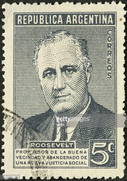 Franklin Roosevelt on an old Argentine postage stamp