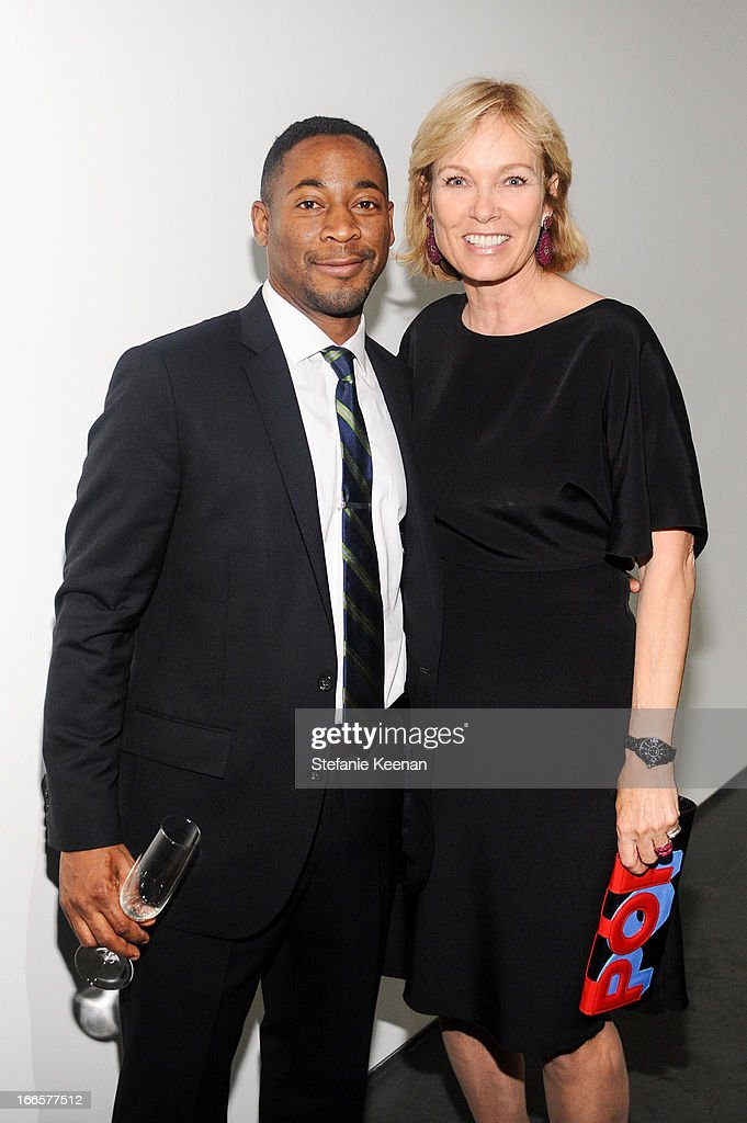Franklin Sirmans and Deborah McLeod attend LACMA's 2013 Collectors Committee - Gala Dinner at LACMA on April 13, 2013 in Los Angeles, California.