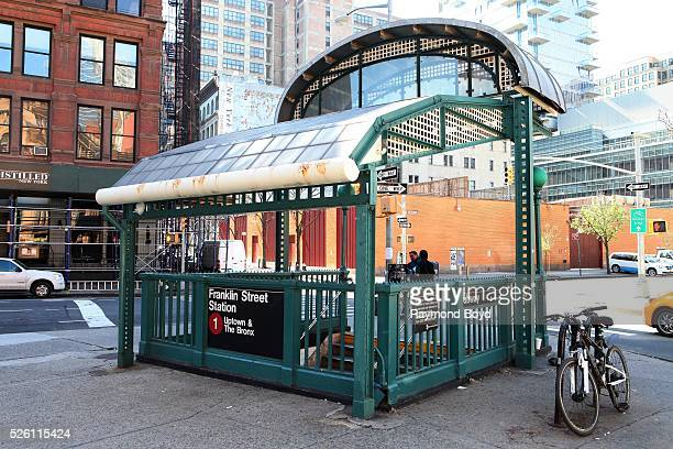 Franklin Street Subway Station in Tribeca in New York New York on April 15 2016