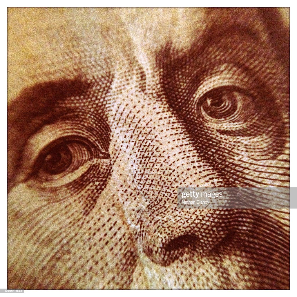 Franklin's Eyes : Stock Photo