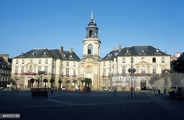 Frankreich Bretagne Rennes das Rathaus