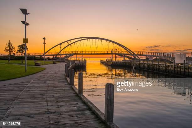 Frankston Bridge during the sunset, Australia.