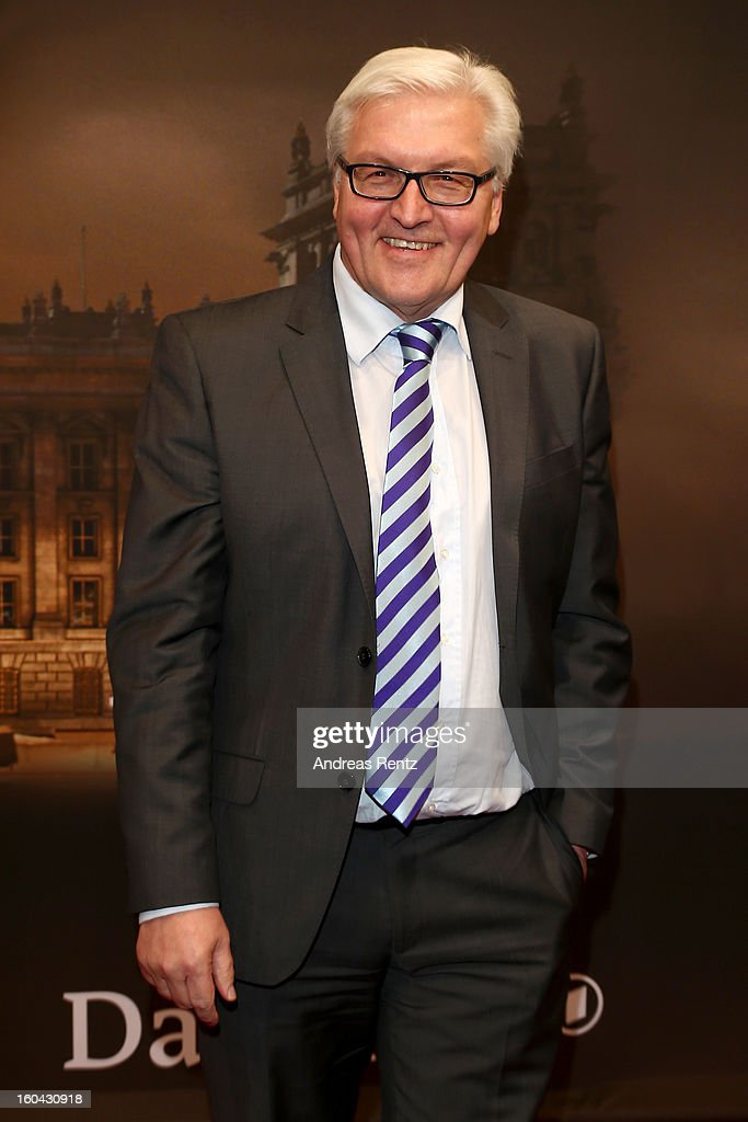 Frank-Walter Steinmeier attends 'Nacht Ueber Berlin' Preview at Astor Film Lounge on January 31, 2013 in Berlin, Germany.