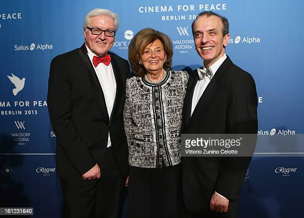 FrankWalter Steinmeier Charlotte Knobloch and Daniel Alter during the Cinema For Peace Gala Ceremony at the 63rd Berlinale International Film...