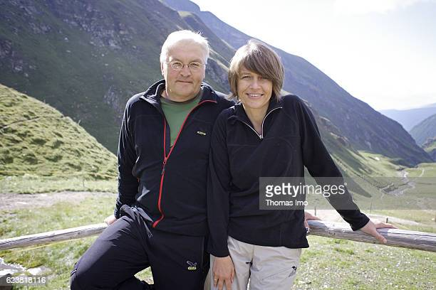 FrankWalter STEINMEIER SPD Federal Foreign Minister and his wife Elke Buedenbender are posing during their holidays for a photo on August 11 2008 in...