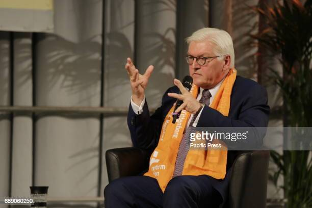 FrankWalter Steinmeier speaks at the Kirchentag FrankWalter Steinmeier the President of Germany talked about 'Responsible action in the present at...