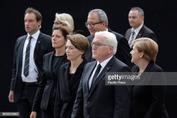 FrankWalter Steinmeier the President of Germany his wife Elke Budenbender Andreas Vosskuhle the President of the Federal Constitutional Court of...