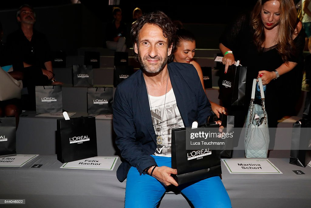 Frank-Willy Wild attends the Irene Luft show during the Mercedes-Benz Fashion Week Berlin Spring/Summer 2017 at Erika Hess Eisstadion on July 1, 2016 in Berlin, Germany.