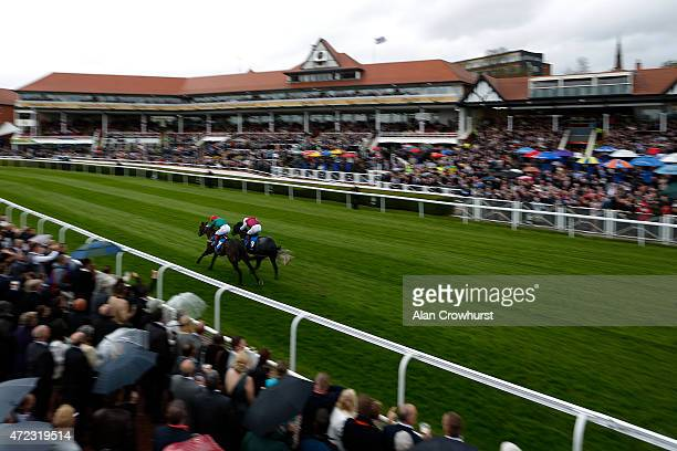 Franny Norton riding Rah Rah win The Stellar Group Lily Agnes Conditions Stakes at Chester racecourse on March 06 2015 in Chester England