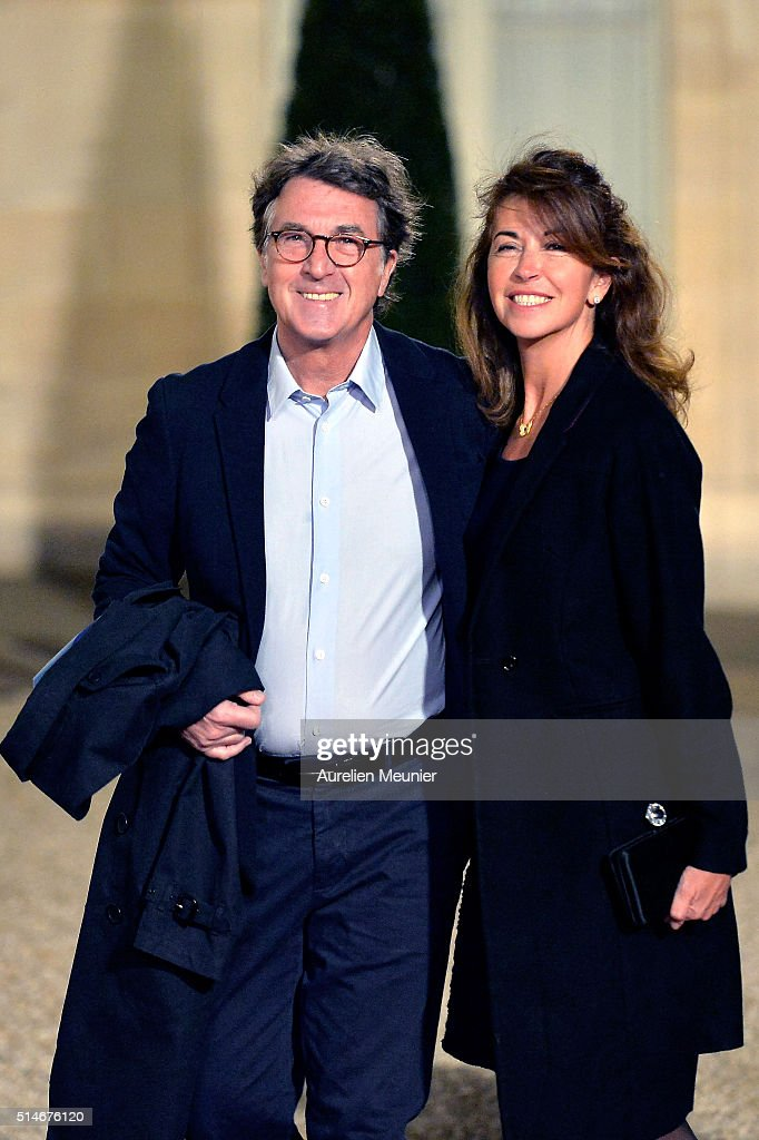 Franois Cluzet and his wife Narjiss arrive to the state dinner given by French President Francois Hollande in honor of Queen Maxima of the Netherlands and King Willem-Alexander of the Netherlands at Elysee Palace on March 10, 2016 in Paris, France. Queen Maxima and King Willem-Alexander of The Netherlands are on a two-day state visit in France