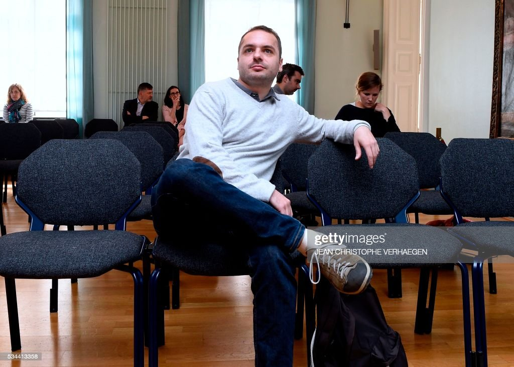 François Lambert, the nephew of a 38-year-old quadriplegic Vincent Lambert who is being kept artificially alive, waits before the appeal trial at the administrative court of Nancy on May 26, 2016. The administrative court examines on May 26, 2016 the request of his nephew to end artificial life support for his uncle Vincent Lambert who is at the CHU of Reims. Lambert suffers from irreversible brain damage and is in a chronic vegetative state since a road accident in 2008. While his wife, nephew and doctors approve a 'passive' form of euthanasia and the withdrawal of artificial life support, Lambert's parents have refused to accept it and have fought several legal battles to keep their son on life support. / AFP / Jean Christophe VERHAEGEN