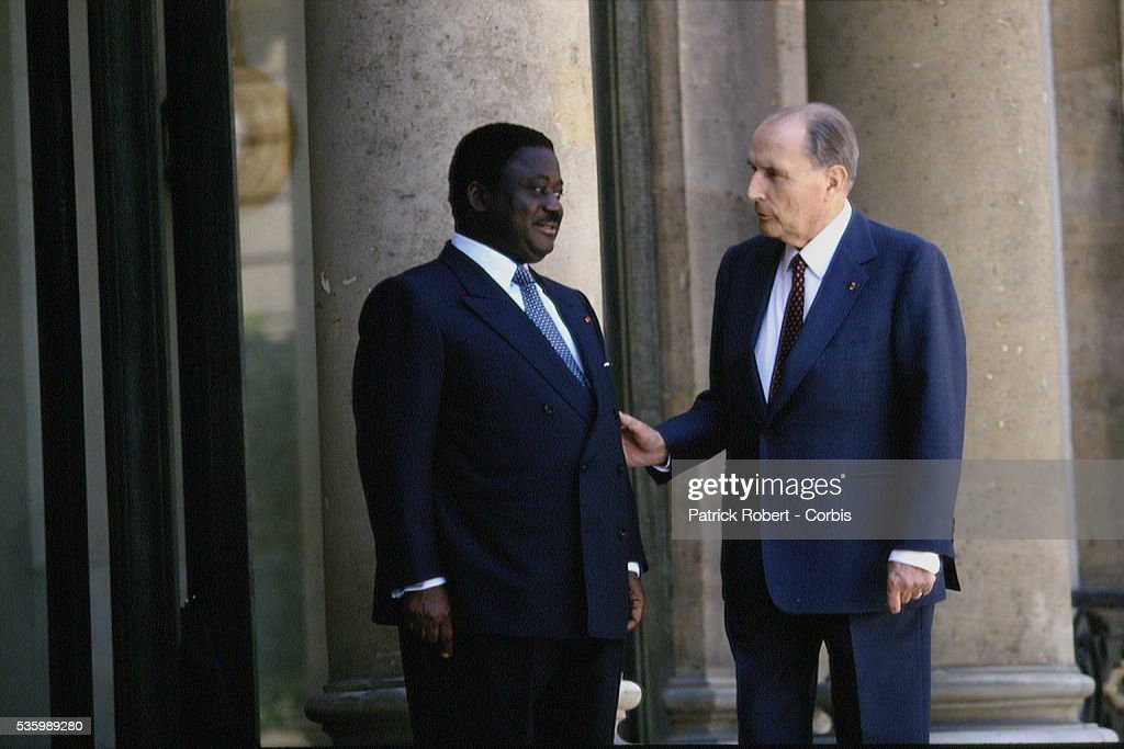 PRESIDENT OF THE IVORY COAST ON OFFICIAL VISIT IN PARIS