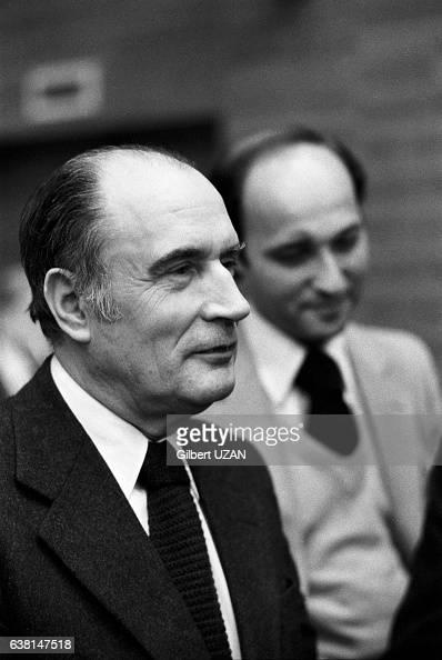 François Mitterrand et Laurent Fabius le 22 avril 1979 à Paris France