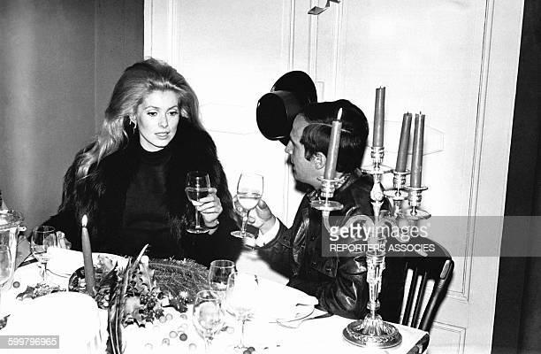 François Truffaut et Catherine Deneuve à Paris France circa 1970