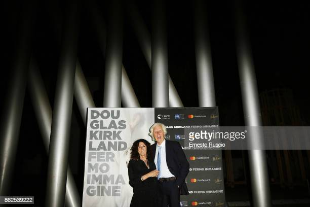 Franoise Kirkland and Douglas Kirkland attend 'Douglas Kirkland Fermo Immagine' exhibition opening at MAXXI Museum on October 17 2017 in Rome Italy