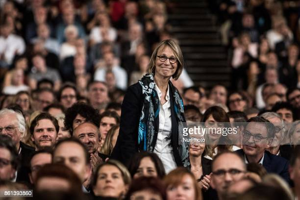 Françoise Nyssen attends opening ceremony of 9th Film Festival Lumiere In Lyon on October 14 2017 in Lyon France