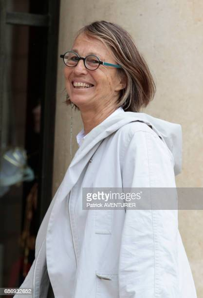 Françoise Nyssen France's minister for culture arrives for a cabinet meeting at the Elysée Palace in Paris France on May 18 2017