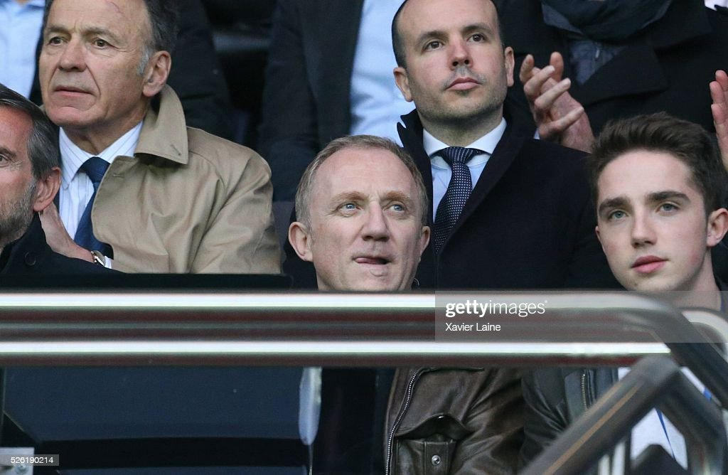 Franois-Henri Pinault attends the French Ligue 1 match between Paris Saint-Germain and Stade Rennais at Parc des Princes on April 29, 2016 in Paris, France.