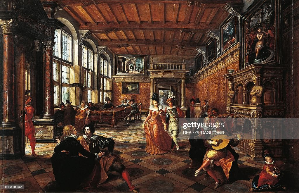Frans Francken the Younger A Ball in a Flemish Interior