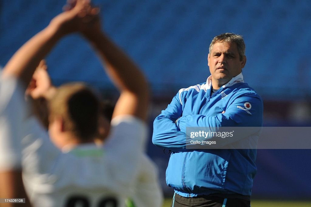 Frans Ludeke (Head coach) during the Vodacom Bulls training session and press conference at Loftus Versveld on July 24, 2013 in Pretoria, South Africa.
