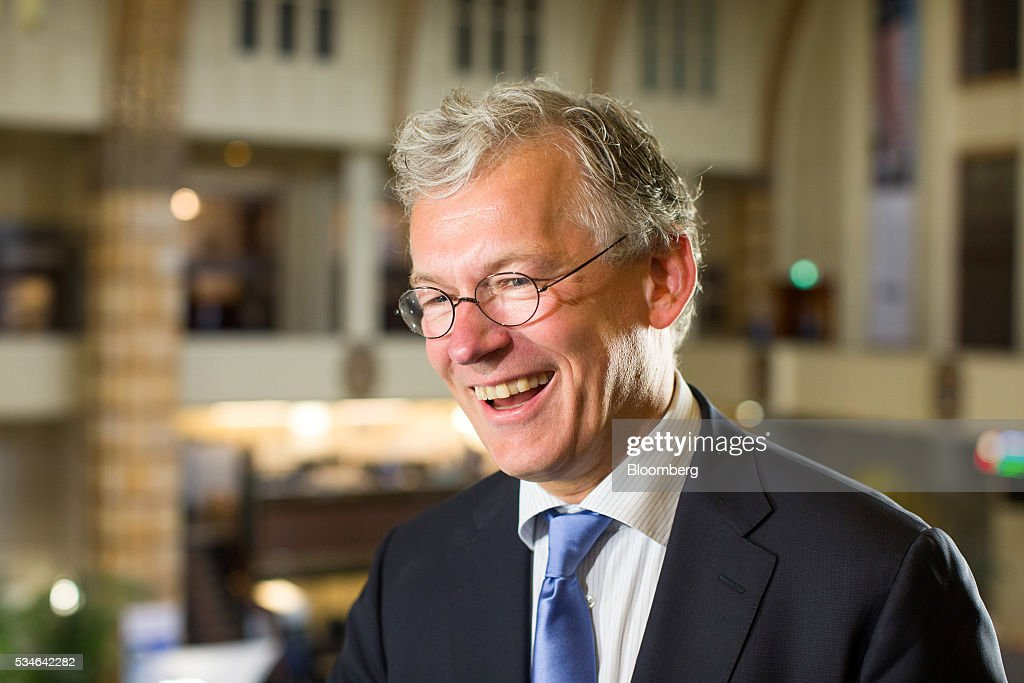 Frans van Houten, chief executive officer of Royal Philips NV, reacts during an interview after the Philips Lightning NV debut at Amsterdam Stock Exchange (AEX), operated by Euronext NV, in Amsterdam, Netherlands, on Friday, May 27, 2016. Philips Lighting NV shares jumped in their trading debut after Dutch parent company Royal Philips NV raised 750 million euros ($839 million) in an initial public offering of the worlds biggest general luminaries business. Photographer: Jasper Juinen/Bloomberg via Getty Images