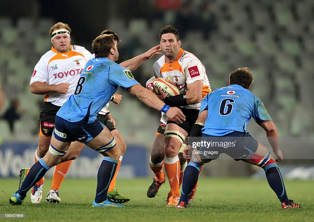 Frans Viljoen of the Cheetahs during the Absa Currie Cup match between Toyota Free State Cheetahs and Vodacom Blue Bulls at Free State Stadium on August 17, 2012 in Bloemfontein, South Africa.