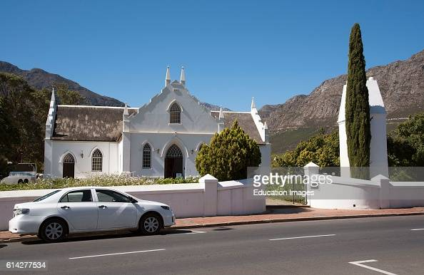 Franschhoek Western Cape South Africa The Dutch Reform Church on The Main Street In Franschhoek Southern Africa