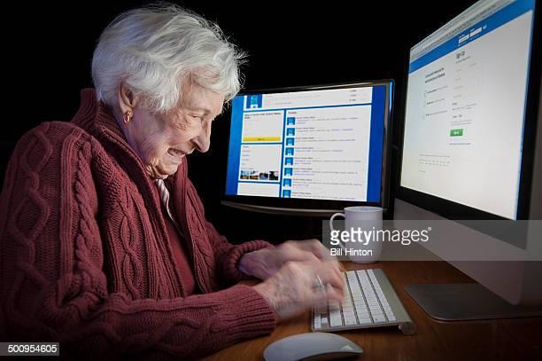 Frantic grandma addicted to late night internet