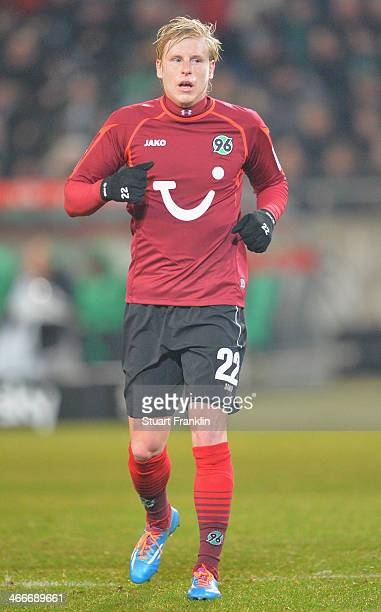 Frantisek Rajtoral of Hannover in action during the Bundesliga match between Hannover 96 and Borussia Moenchengladbach at HDIArena on November 8 2013...