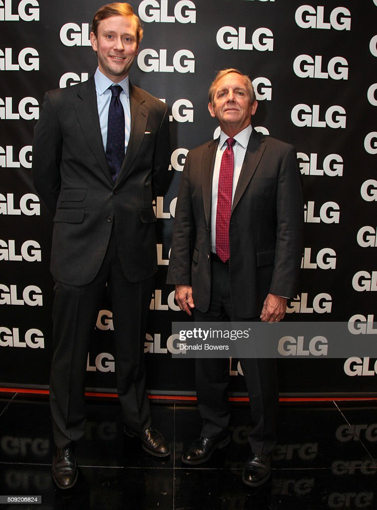 Franz Bauerlein Americas Head of Legal, Economic, and Regulatory Affairs at GLG and Admiral Eric Olson, Former Commander Of US Special Operations Command (USSOCOM), visit GLG (Gerson Lehrman Group) on February 9, 2016 in New York City.