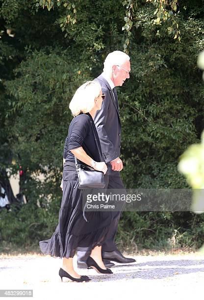 Franz Beckenbauer and his wife Heidi Beckenbauer during the memorial service for Stephan Beckenbauer at church 'St Heilige Familie' on August 7 2015...