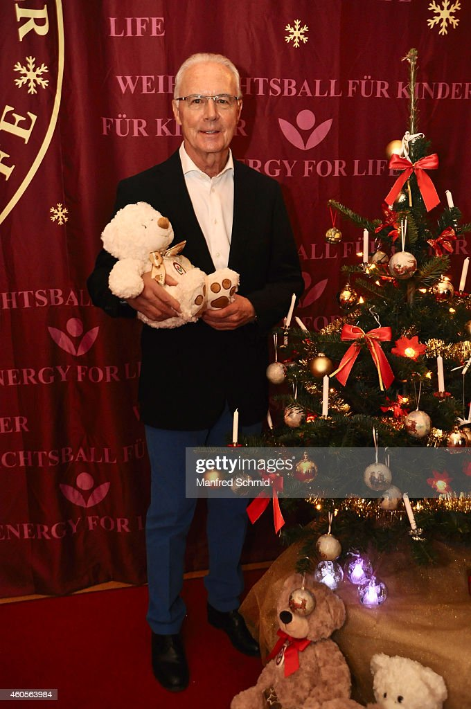 <a gi-track='captionPersonalityLinkClicked' href=/galleries/search?phrase=Franz+Beckenbauer&family=editorial&specificpeople=210545 ng-click='$event.stopPropagation()'>Franz Beckenbauer</a> poses for a photograph during the Energy For Life christmas ball for children at Hofburg Vienna on December 16, 2014 in Vienna, Austria.
