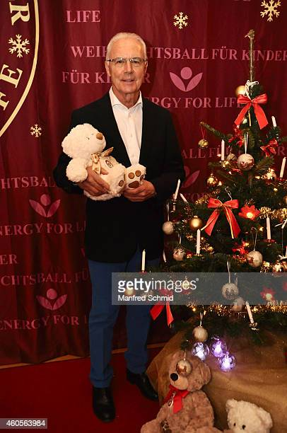 Franz Beckenbauer poses for a photograph during the Energy For Life christmas ball for children at Hofburg Vienna on December 16 2014 in Vienna...