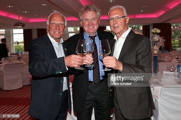 Franz 'Bulle' Roth Sepp Maier Franz Beckenbauer during the Franz Roth Golf Cup gala evening in favour of Michael Roll Stiftung 'Tabaluga' on May 1...