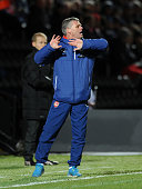Franz de Kat the Arsenal U18 Manager during the match between Arsenal U18 and Crewe Alexandra U18 in the FA Youth Cup 5th Round at The Hive on...