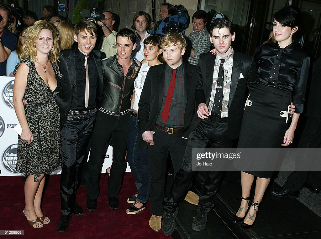 Franz Ferdinand and girlfriends arrive at the annual 'Nationwide Mercury Music Prize' at the Grosvenor House on September 7, 2004 in London. Making the 12-album short list this year are Basement Jaxx (Kish Kash), Belle & Sebastian (Dear Catastrophe Waitress), Franz Ferdinand (Franz Ferdinand), Jamelia (Thank You), Keane (Hopes and Fears), Snow Patrol (Final Straw), Joss Stone (The Soul Sessions, The Streets (A Grand Don't Come For Free), Ty (Upwards), Amy Winehouse (Frank), Robert Wyatt (Cuckooland) and The Zutons (Who Killed The Zutons).