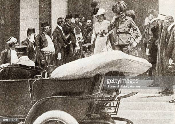 Franz Ferdinand Archduke Of Austria And His Wife Sophie Duchess Of Hohenberg Moments Before They Were Assassinated In Sarajevo On June 28 1914 From...