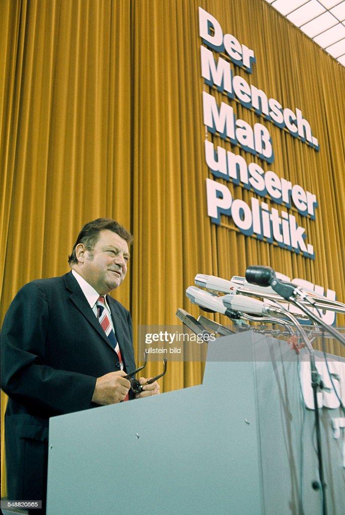 Franz Josef Strauß in Regensburg um 1980