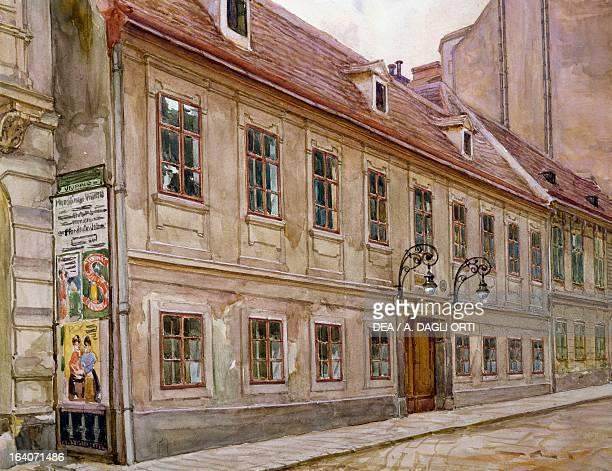 Franz Joseph Haydn's house in Vienna Watercolour Vienna Historisches Museum Der Stadt Wien