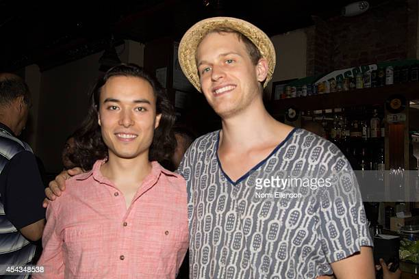 Franz Quitt and Alexander KushiWillis attend #RockaBYESummer hosted by Natalie Zfat at Rivington FB on August 28 2014 in New York City