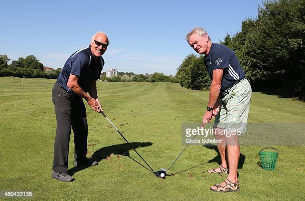 Franz Roth Sepp Maier golf during the Kaiser Cup 2015 golfcup and gala on July 11 2015 in Bad Griesbach near Passau Germany