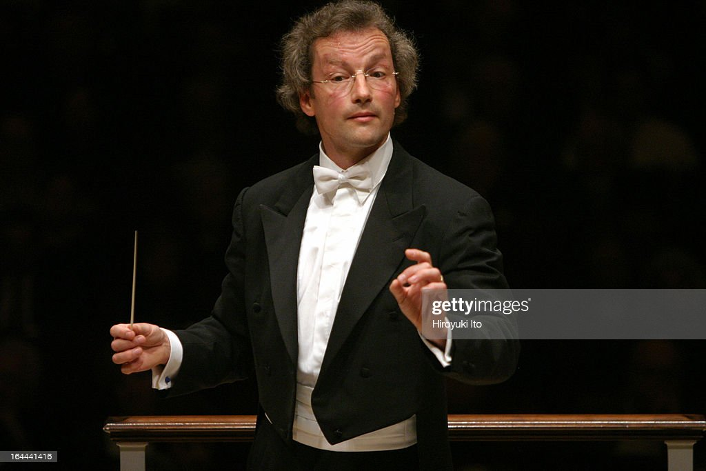 Franz Welser-Most conducting the Cleveland Orchestra in Dvorak's 'Symphony No.5 in F Major' at Carnegie Hall on October 5, 2006.