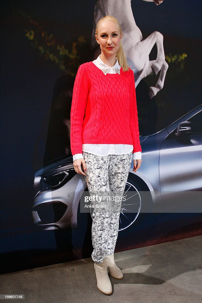 Franzi attends MercedesBenz Fashion Week Autumn/Winter 2013/14 at the Brandenburg Gate on January 17 2013 in Berlin Germany