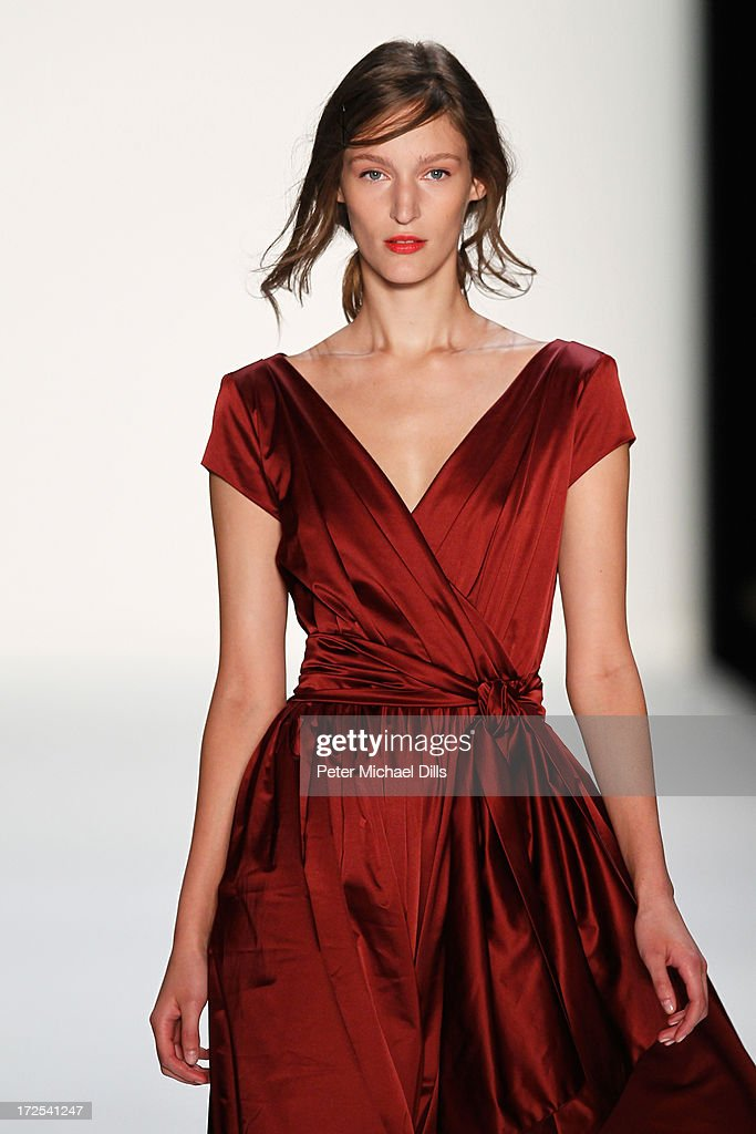 Franzi Mueller walks the runway at the Minx By Eva Lutz show during Mercedes-Benz Fashion Week Spring/Summer 2014 at Brandenburg Gate on July 3, 2013 in Berlin, Germany.