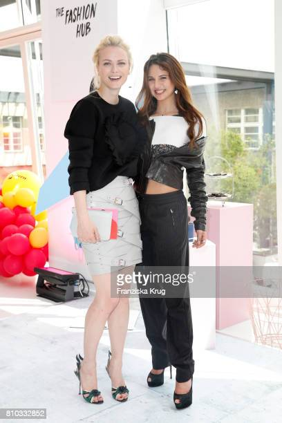 Franziska Knuppe and Carina Zavline attend the Gala Fashion Brunch during the MercedesBenz Fashion Week Berlin Spring/Summer 2018 at Ellington Hotel...