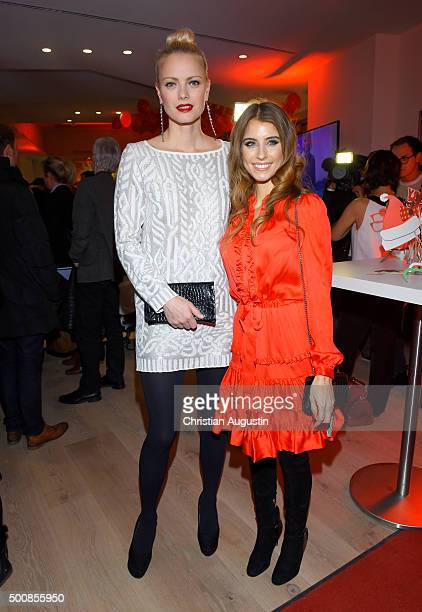 Franziska Knuppe and Cathy Hummels attend the Vapiano Opening Event at Vapiano Restaurant Gaensemarkt on December 10 2015 in Hamburg Germany
